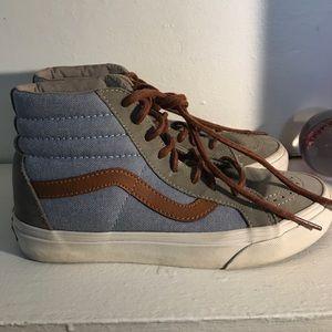0547192f1adaf4 Vans Shoes - Free people high top denim vans